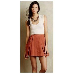 Anthropologie Amadi Textured Viola Skirt